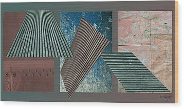 Wood Print featuring the photograph Metalisation by Terri Harper