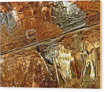 Metallic Ice Wood Print by Chris Berry