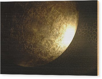 Metallic Moon Wood Print by Kathy Schumann