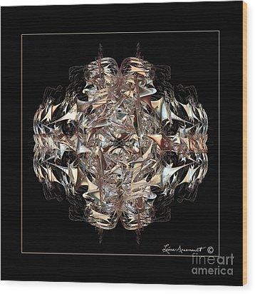 Metallic On Black Wood Print