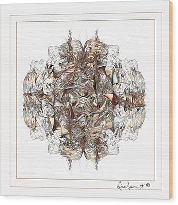 Metallic On White Wood Print