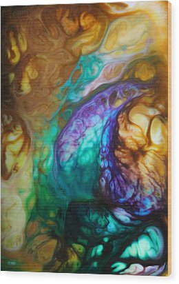 Metamorphic Sapphire Wood Print by Lucy Matta - LuLu
