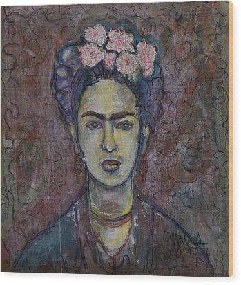 Metamorphosis Frida Wood Print by Laurie Maves ART