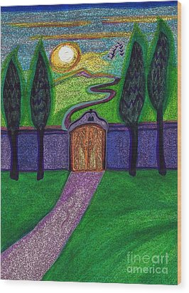 Metaphor Door By Jrr Wood Print by First Star Art