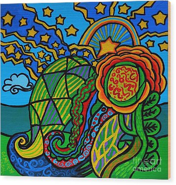 Metaphysical Starpalooza Wood Print by Genevieve Esson