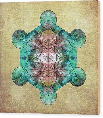 Metatron's Cube Wood Print by Filippo B