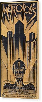 Metropolis Poster Wood Print