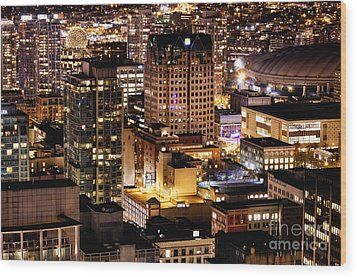 Wood Print featuring the photograph Metropolis Vancouver Mdccxv  by Amyn Nasser