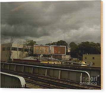 Metropolitan Transit Wood Print by Miriam Danar