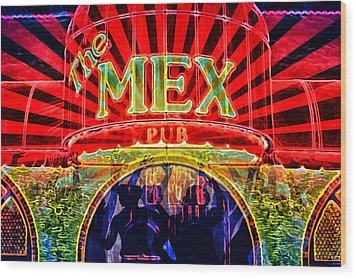 Wood Print featuring the digital art Mex Party by Richard Farrington