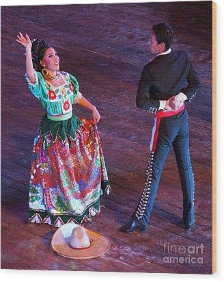Mexican Folk Dance 12 Wood Print