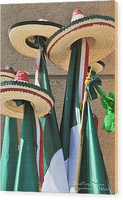 Wood Print featuring the photograph Mexican Independence Day - Photograph By David Perry Lawrence by David Perry Lawrence