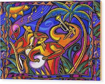 Latin Music Wood Print