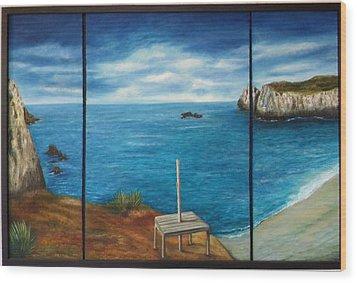 Mexican Ocean Beach  Wood Print by Nora Vega