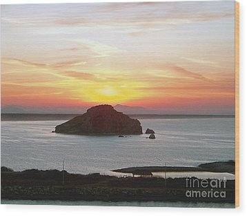 Wood Print featuring the photograph Mexican Riviera Sunset by Gena Weiser
