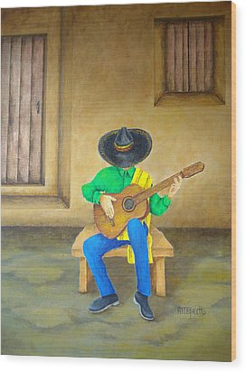 Mexican Serenade Wood Print by Pamela Allegretto