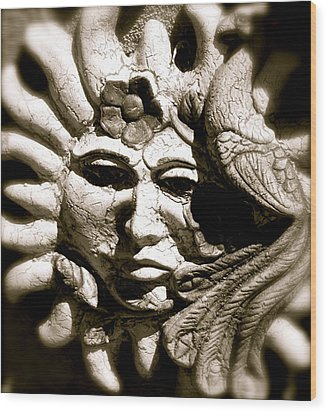 Mexican Sun Wood Print by Kim Pippinger