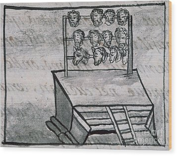 Mexico - Skull Rack Wood Print by Granger