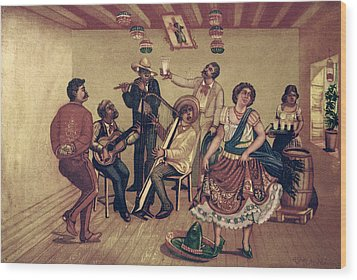 Mexico: Hat Dance Wood Print by Granger