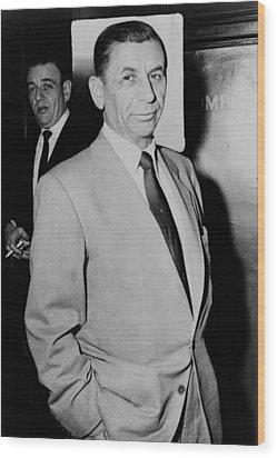Meyer Lansky - The Mob's Accountant 1957 Wood Print