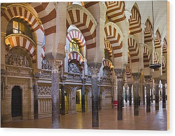 Mezquita Prayer Hall In Cordoba Wood Print by Artur Bogacki