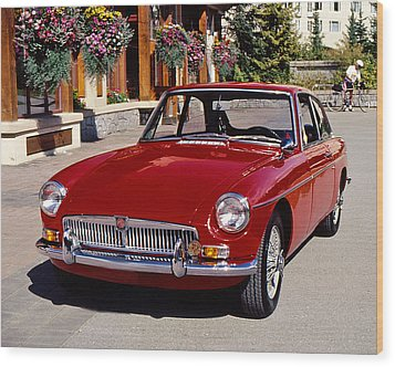 Mgb In Whistler Wood Print by Christopher McKenzie