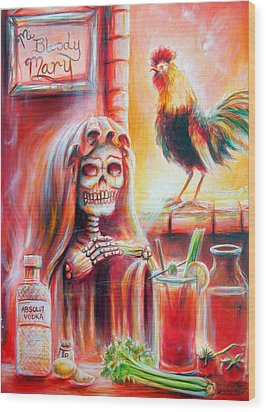 Mi Bloody Mary Wood Print by Heather Calderon