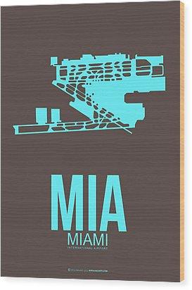 Mia Miami Airport Poster 2 Wood Print by Naxart Studio