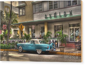 Miami Beach Art Deco 1 Wood Print