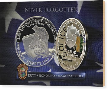 Miami Dade Police Memorial Wood Print by Gary Yost