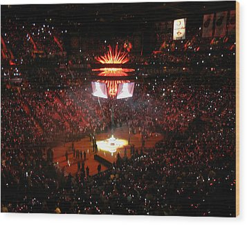 Wood Print featuring the photograph Miami Heat  by J Anthony