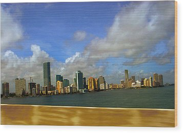 Wood Print featuring the photograph Miami by J Anthony