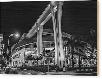 Miami Marlins Park Stadium Wood Print