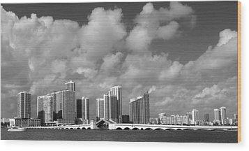 Miami Wood Print by Raymond Earley