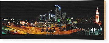 Wood Print featuring the photograph Miami Skyline by J Anthony
