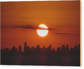 Wood Print featuring the photograph Miami Sunset by Jennifer Wheatley Wolf
