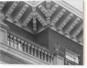 Miami University Hall Auditorium Detail Wood Print by University Icons
