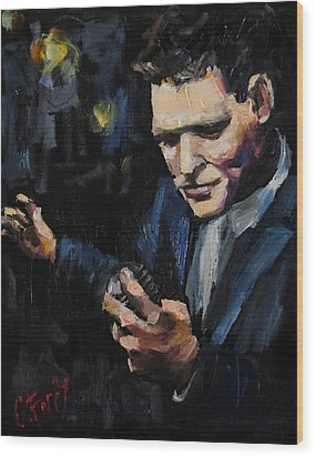 Michael Buble Wood Print by Carole Foret