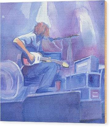 Michael Houser From Widespread Panic Wood Print by David Sockrider