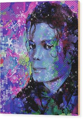 Michael Jackson 17 Wood Print by Bekim Art