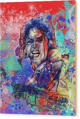 Michael Jackson 8 Wood Print by Bekim Art