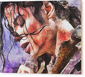 Michael Jackson Live And Alive 1 Wood Print