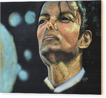 Michael Jackson Wood Print by Maria Schaefers