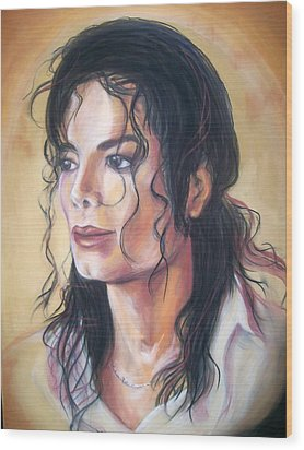 Michael Jackson Wood Print by Martha Suhocke