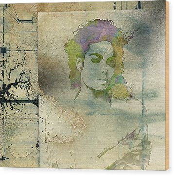 Michael Jackson Silhouette Wood Print by Paulette B Wright