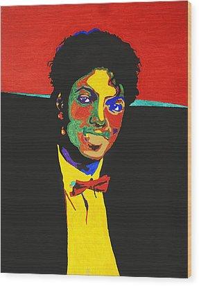 Michael Jackson Wood Print by Stormm Bradshaw