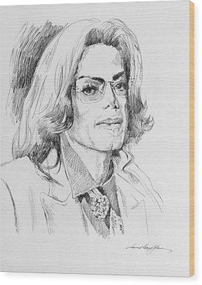 Michael Jackson This Is It Wood Print by David Lloyd Glover
