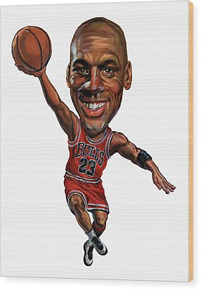 Michael Jordan Wood Print by Art