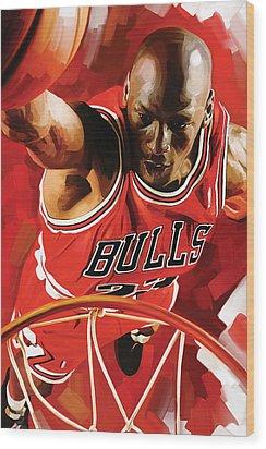 Michael Jordan Artwork 3 Wood Print