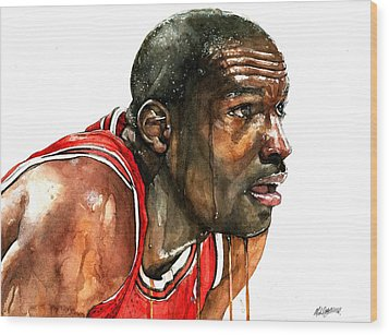 Michael Jordan Early Days Wood Print